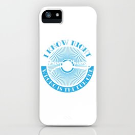 """""""I Know Right from Wrong"""" tee design. Makes a nice gift for your friends and family this holiday!  iPhone Case"""