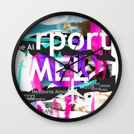 MEL Melbourne airport code Wall Clock