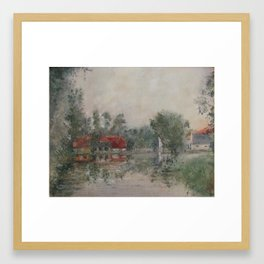 Landscape with Aizpute Framed Art Print