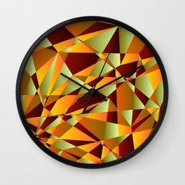 Fall Into Autumn Wall Clock
