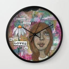 He loves me , He loves me not! Wall Clock
