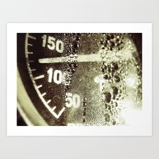 temperature gauge Art Print