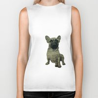 frenchie Biker Tanks featuring Frenchie by Mi Nu Ra