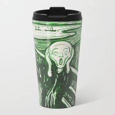The Scream's Haze (green) Metal Travel Mug
