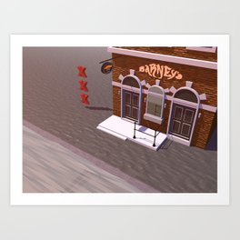 Barney's Lounge Coffeshop Art Print