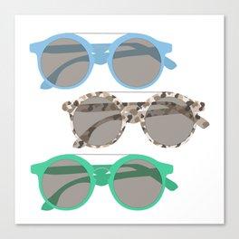 Three Sunglasses Cool Canvas Print