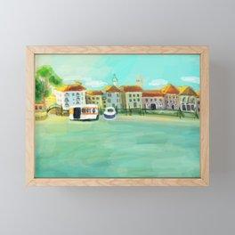 Bright Sunny Painterly Venice Canal  Framed Mini Art Print