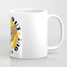 Sun's out - Tongues out (Corgi) Coffee Mug