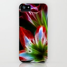 Flowers in red and green iPhone Case
