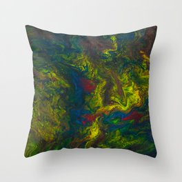 Clouds of Yellow Throw Pillow