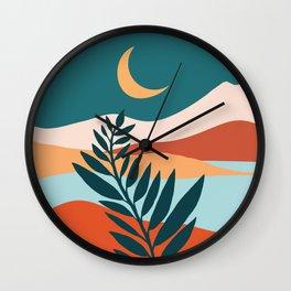 Moonlit Mediterranean / Abstract Landscape Wall Clock