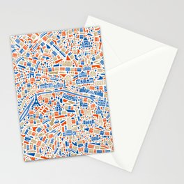 Paris City Map Poster Stationery Cards