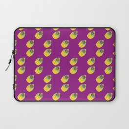 Dark Cookie Pixel Cupcake Pattern Laptop Sleeve