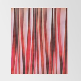 Red Adventure Striped Abstract Pattern Throw Blanket