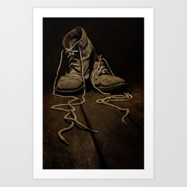 Old Brown Shoes Art Print