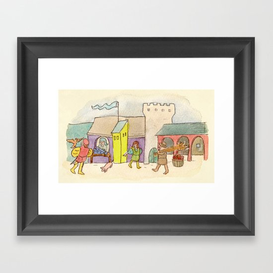 A Day at the Market Framed Art Print