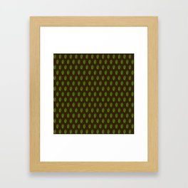 Hops Dark Brown Pattern Framed Art Print