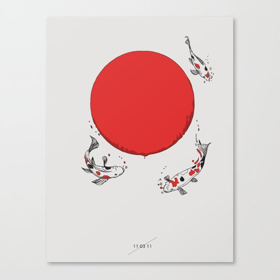 Koi and Sun Canvas Print