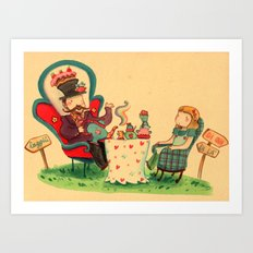 Alice and the mad hatter Art Print
