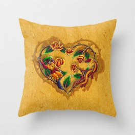 Rodimus and Roses Throw Pillow