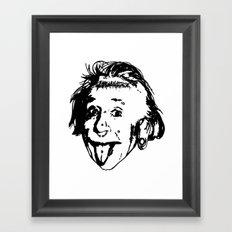Albert Einstein. Rebel: F**k You! Framed Art Print