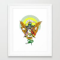 hindu Framed Art Prints featuring Hindu Universe by MARICAMA