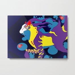 Tiger Lantern Hippocampus Metal Print