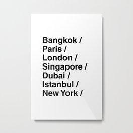 Travel Cities Metal Print