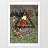bon iver Art Prints featuring Bon Iver by Doug Crookston