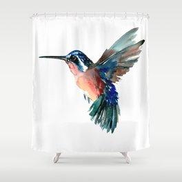 Flying Hummingbird Shower Curtain