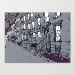 Brooklyn Heights by night Canvas Print