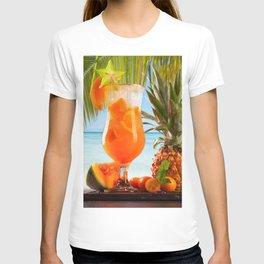 Stars Juice Pumpkin Orange fruit Pineapples Highball glass Food Drinks drink T-shirt
