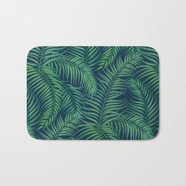 Night tropical palm leaves Bath Mat