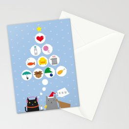 Santa Cat Stationery Cards
