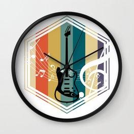 Retro Bass Guitar Wall Clock