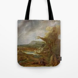 Stolen Art - Landscape with an Obelisk by Govert Flinck Tote Bag
