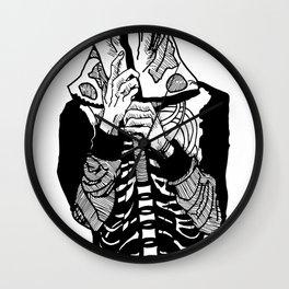 Skeleton Hoodie Wall Clock