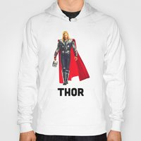 thor Hoodies featuring Thor by Marianna