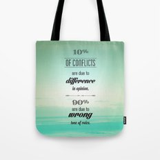 CONFLICTS Tote Bag
