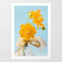 Yellow Globeflower - Golden Queen Trollius x Cultorum 2 Art Print