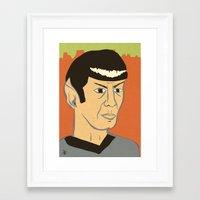 spock Framed Art Prints featuring Spock by Arlin Ortiz