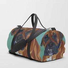 Boxer Dog Pet Portrait Duffle Bag