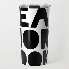 Read More Books - Black and white V2 Travel Mug