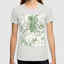 Berlin city map minimal T-shirt