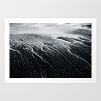 remains of a wave Art Print
