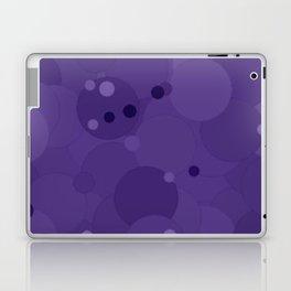 Gentian Violet Bubble Dot Color Accent Laptop & iPad Skin