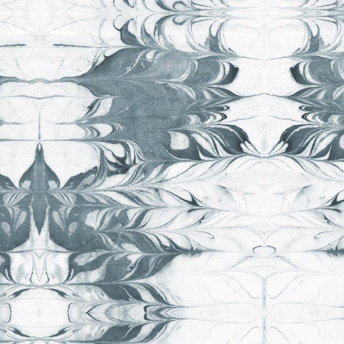 Haru - spilled ink modern abstract marble painting indigo ink splash swirl ocean waves water sea Leggings