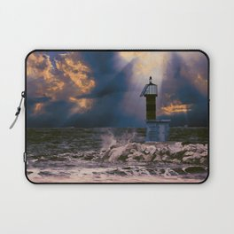 Light House in storm Laptop Sleeve