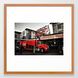 Public market  Framed Art Print
