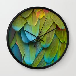Feathery blue Wall Clock